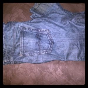 7 for all mankind customized blue jeans